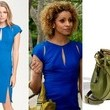 Michelle Hurd's Cap Sleeve Dress and Handbag on '90210'