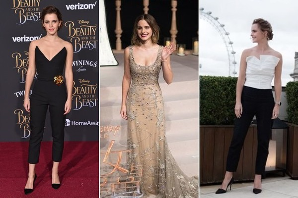 Emma Watson's Stunning Sustainable Fashion from the 'Beauty and the Beast' Promo Tour
