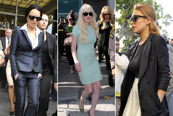 Lindsay Lohan's Courtroom Style