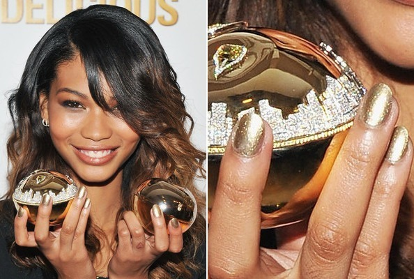 Chanel Iman's Golden Glow
