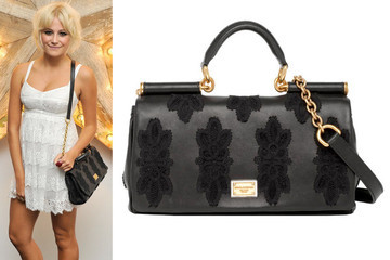 Leather and Lace: Pixie Lott's Dolce & Gabbana Miss Sicily Bag