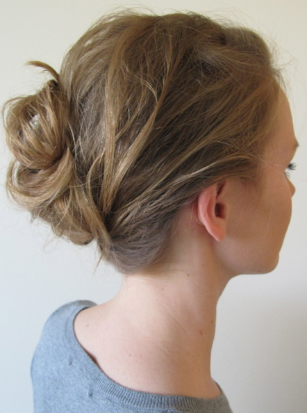 How To: Recreate Dianna Agron's Loose Bun