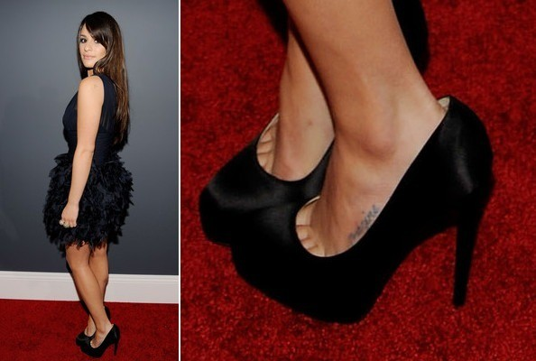 Lea Michele at the 2010 Grammy Awards