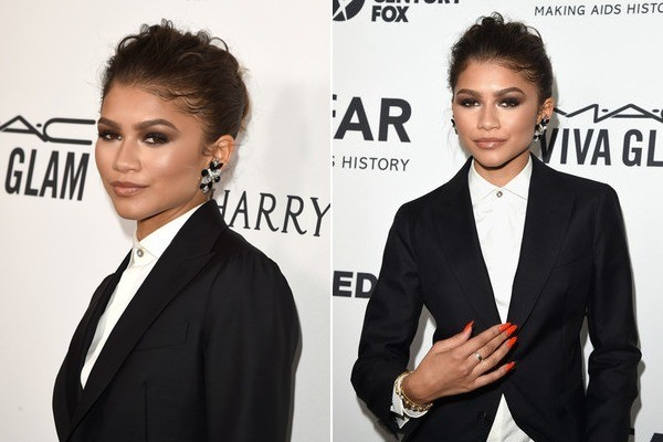 Zendaya's Red Stiletto Nails