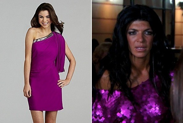 Teresa Giudice's Off-the-Shoulder Dress on 'The Real Housewives of New Jersey'