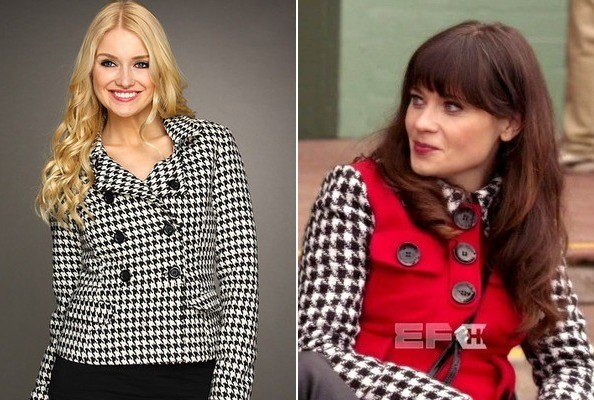 Zooey Deschanel's Houndstooth Jacket on 'New Girl'