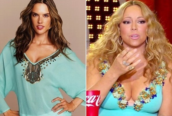 An Embellished Teal Top Like Mariah Carey's on 'American Idol'