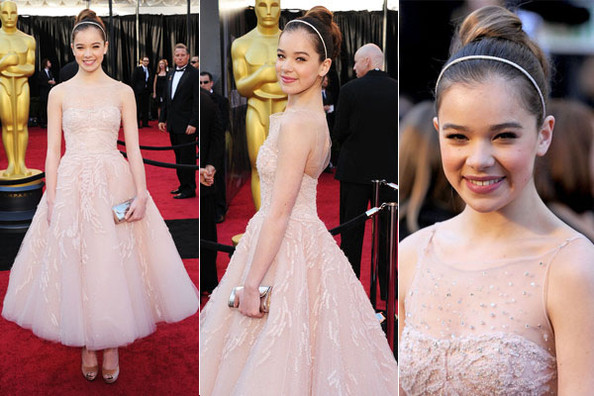 (Getty Images)   Hailee Steinfeld  When Hailee Steinfeld stepped onto the red carpet at the Oscars in a gorgeous cream Marchesa gown, she had more than one reason to be proud. Not only was she nomina