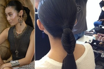 DIY Dannijo's Polished Fishtail Ponytail