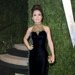 Salma Hayek Wore Alexander McQueen at the Vanity Fair Oscars Party 2013