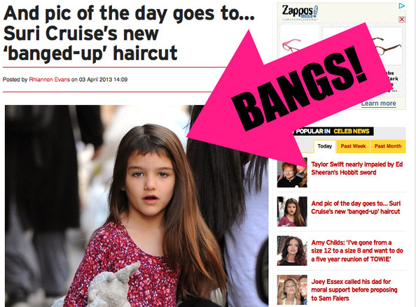 Ruh Roh: Did Suri Cruise Cut Her Own Bangs? [PHOTOS]