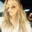 Hilary Duff Wears Golden Shades