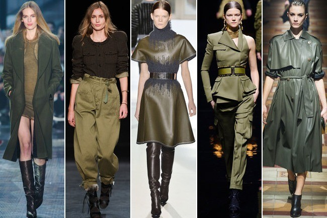 Army Green Marches Down The Runway At Paris Fashion Week Fashion Trend Report Stylebistro