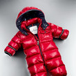 Moncler 'Tom' Detachable Hood Baby Snowsuit