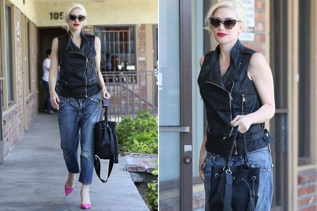 Gwen Stefani's Edgy-Chic Outfit