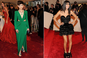 Ginnifer Goodwin and Jessica Szohr Wear Topshop to the Met