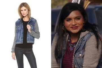 Mindy Kaling's Mixed Media Jacket on 'The Mindy Project'