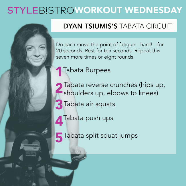 Workout Wednesday: Dyan Tsiumis's Tabata Circuit
