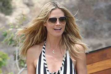 Get the Look: Heidi Klum's Goes-With-Everything Crescent Moon Pendant