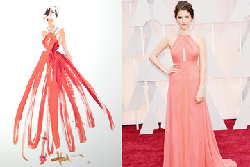 See 2015 Oscars Red Carpet Dresses as Gorgeous Sketches