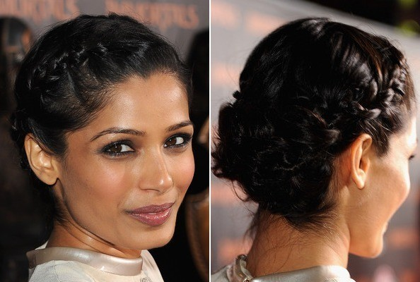 Freida Pinto's Fresh French Braid