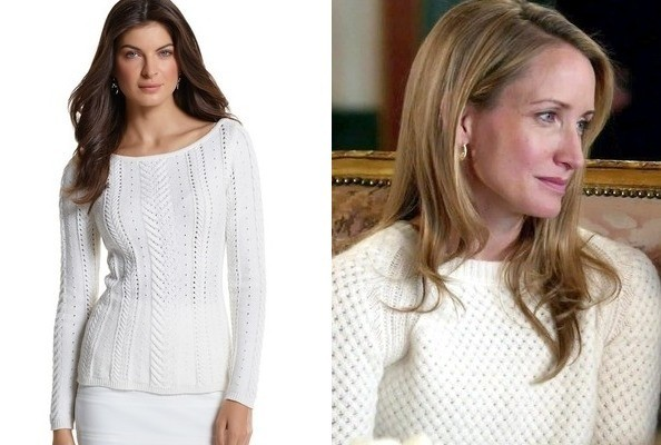 Michelle Nolden's Cozy Sweater on 'Covert Affairs'