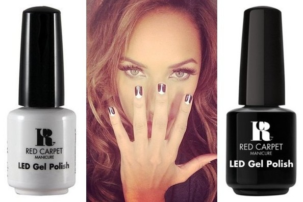 Nail Art DIY: Black-and-White Tuxedo Nails Like Leona Lewis