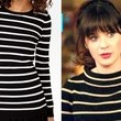 Zooey Deschanel's Striped Sweater on 'New Girl'