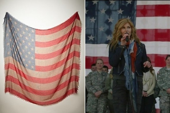 Connie Britton's American Flag Scarf on 'Nashville'