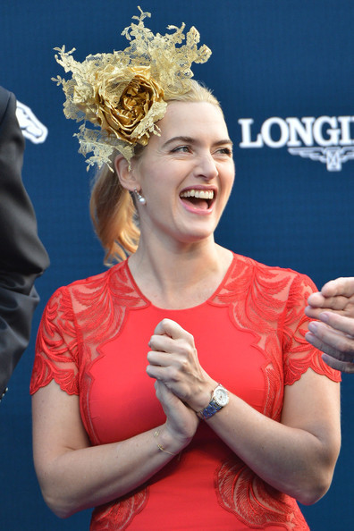 Kate Winslet Is Really Into Fascinators Lately