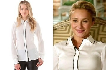 Hayden Panettiere's White Blouse on 'Nashville'