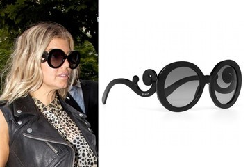 Going for Baroque: Fergie in Prada Sunglasses