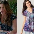 Sofia Vergara's Abstract Print Blouse on 'Modern Family'