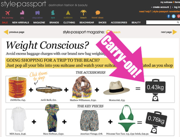 Weigh Before You Buy: Style-Passport Helps You Avoid Baggage Overage Fees