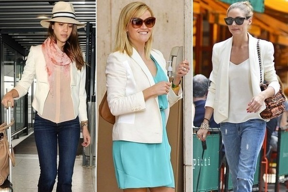 20 Celeb-Approved Ways to Wear a White Blazer This Summer