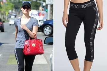Found: Emmy Rossum's Camo Workout Pants