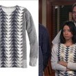 Aubrey Plaza's Chevron Sweatshirt on 'Parks and Recreation'