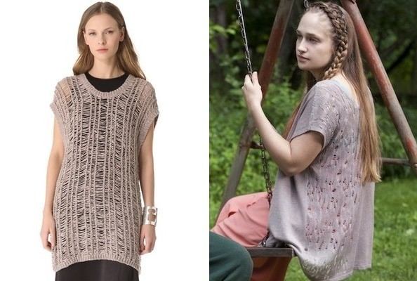 A Drop-Stitch Sweater Like Jemima Kirke's on 'Girls'