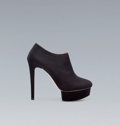 Zara's High Heel Platform Ankle Boot