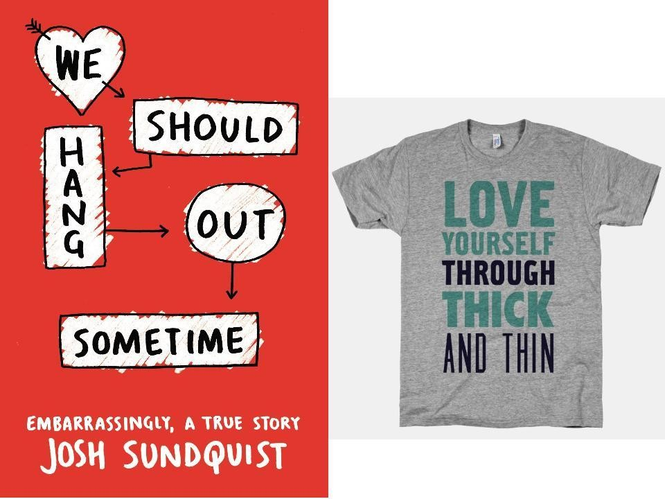 LookHUMAN Love Yourself Through Thick and Thin Tee, $28, atlookhuman.com