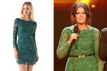Khloe Kardashian's Lace Dress on 'The X Factor'