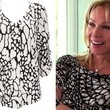 A Black-and-White Crackle-Print Top Like Lea Black's on 'Real Housewives of Miami'