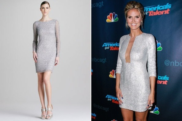 A Long-Sleeve Silver Dress Like Heidi Klum's on 'America's Got Talent'