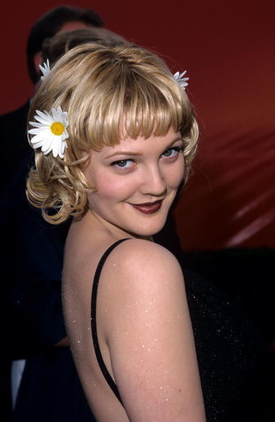 Drew Barrymore 1998 Oscars Hair Looks Through The Years