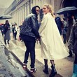 Doutzen and Her Hubby Have a Stylish Rainy Day