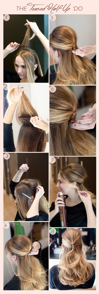 No-Heat Holiday Party 'Do: The Teased Half Updo