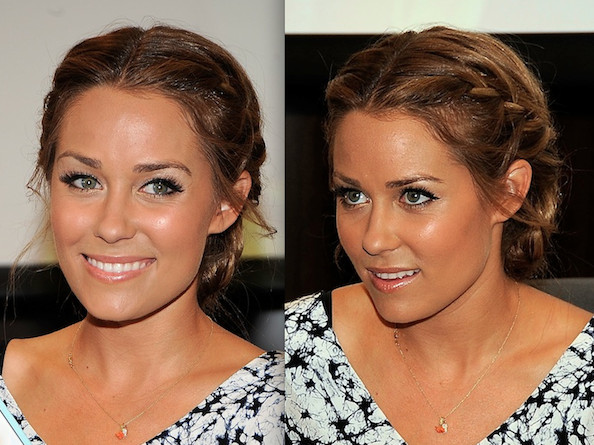 (Lauren Conrad's Braided Bun ) lauren conrad hairstyles for prom