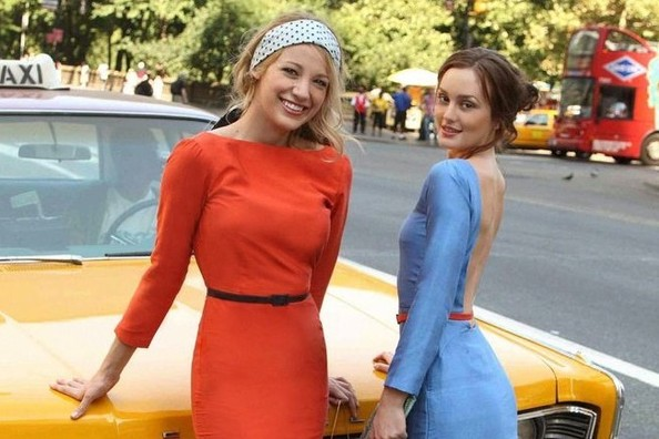 Serena and Blair's Informal Photo Shoot in Waldorf Designs at Central Park
