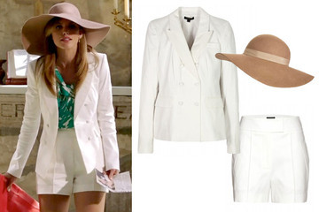 Steal Her Style: AnnaLynne McCord's White Short Suit on '90210'