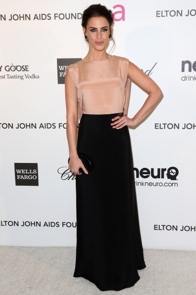 Jessica Lowndes Wore Maria Lucia Hohan at Elton John's 2013 Oscars Party
